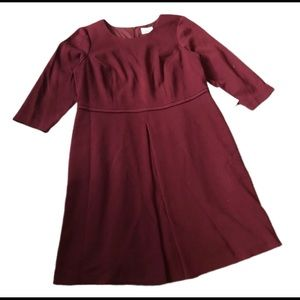 Eliza J Maroon Red Fit and Flare Dress